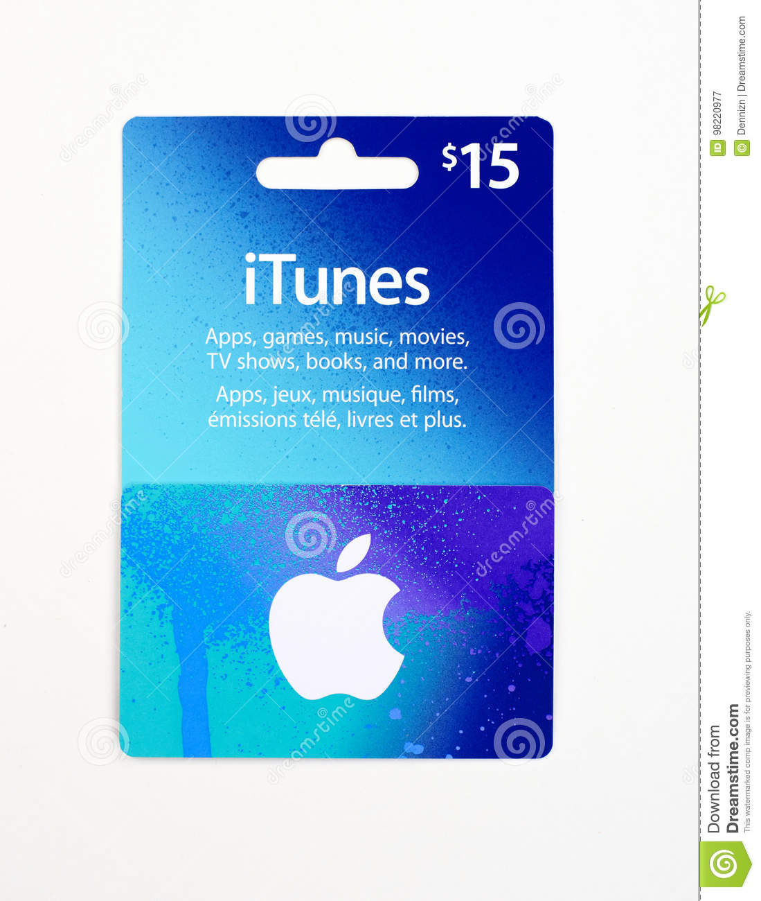 ITunes Gift Card On A White Background