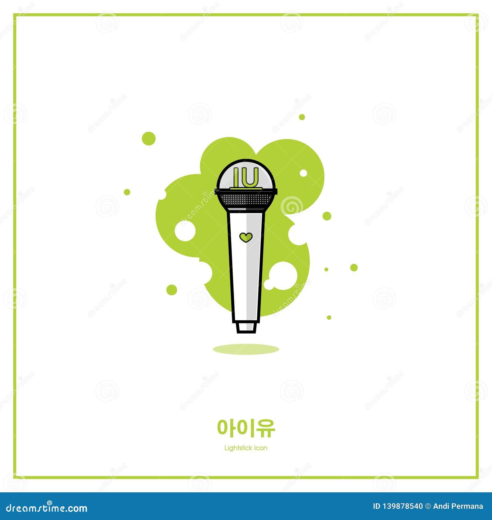 IU Solo piosenkarza Koreańska/K-POP grupy światła kija mieszkania ikona