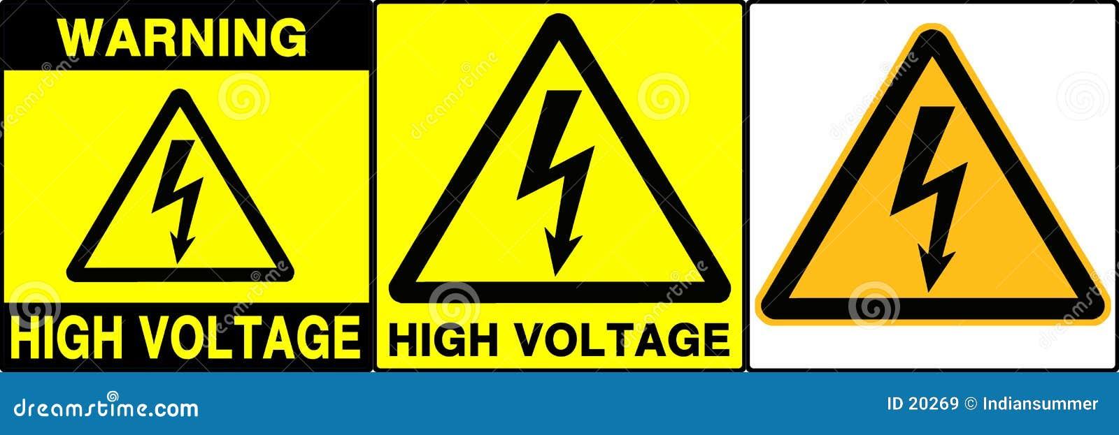 Iv zestaw ostrożności podpisany ostrzeżenie