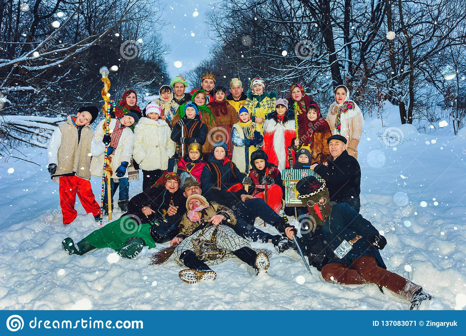Orthodox Christmas 2019.Ivano Frankivsk Ukraine January 7 2019 Celebration Of