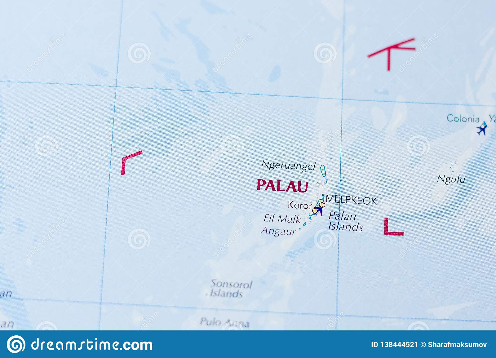 Ivanovsk Russia February 04 2019 Palau On The Map Of The World