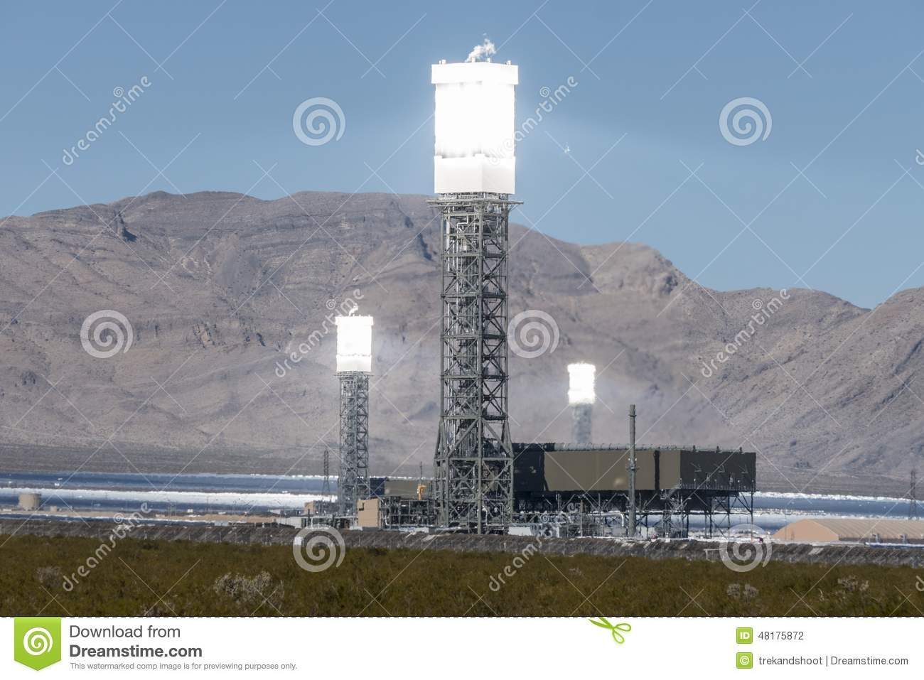Ivanpah Power Tower Heat Shimmers
