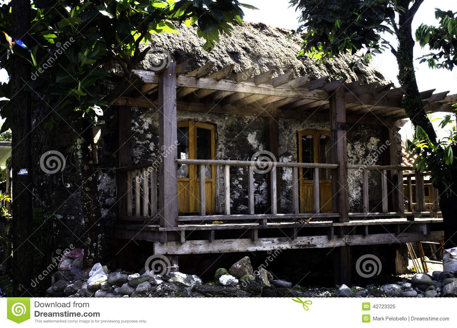 Ivatan House Ruins Batanes Philippines Stock Image - Image of world
