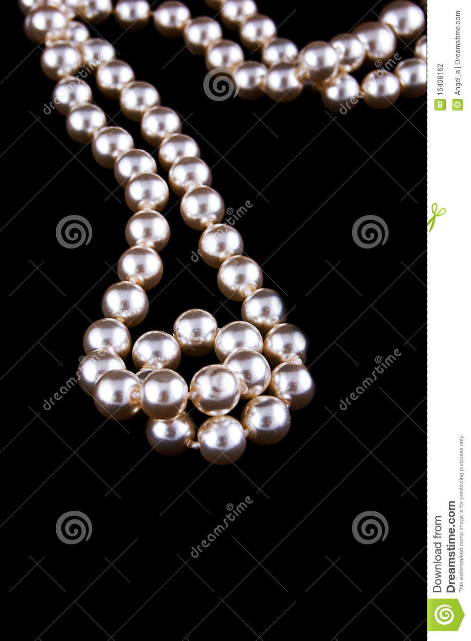 Ivory Pearls Necklace Stock Photo Image Of Glamour Beautiful
