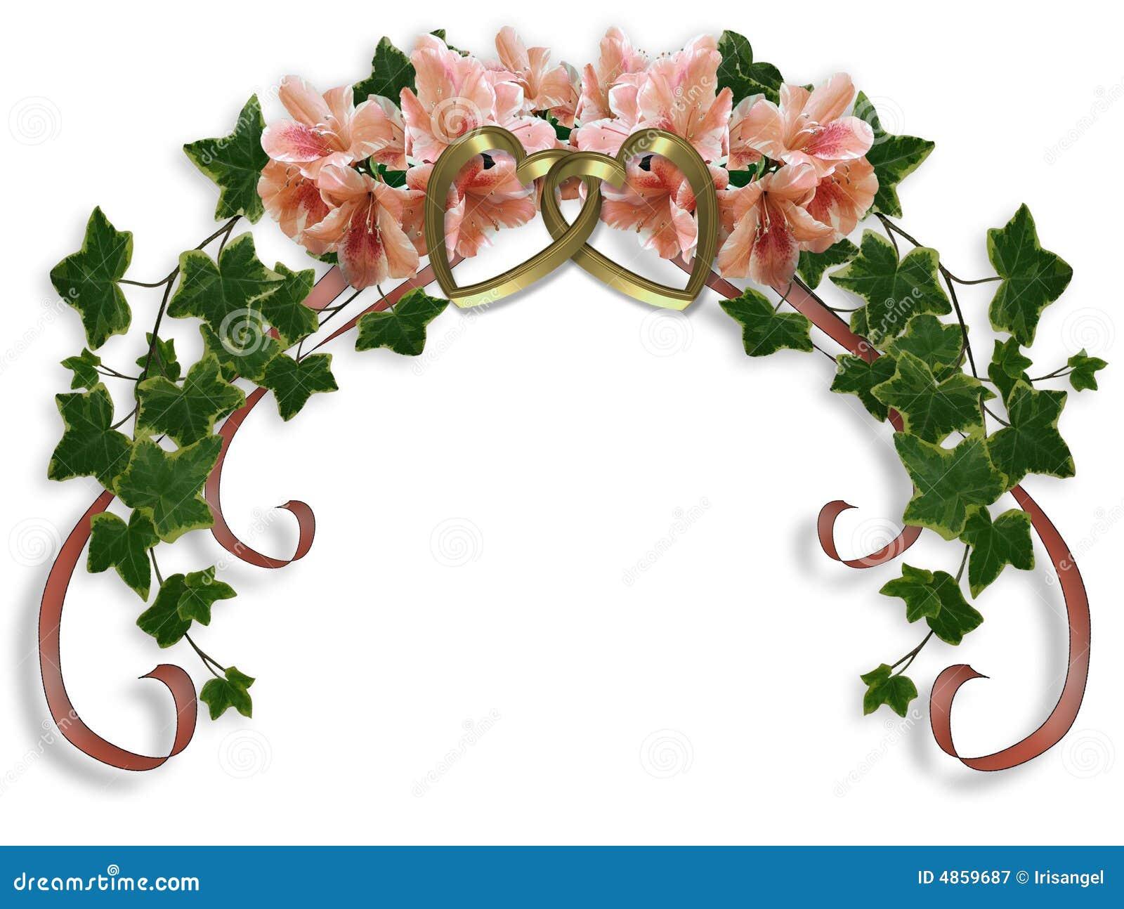 Ivy And Azaleas Floral Wedding Design Royalty Free Stock