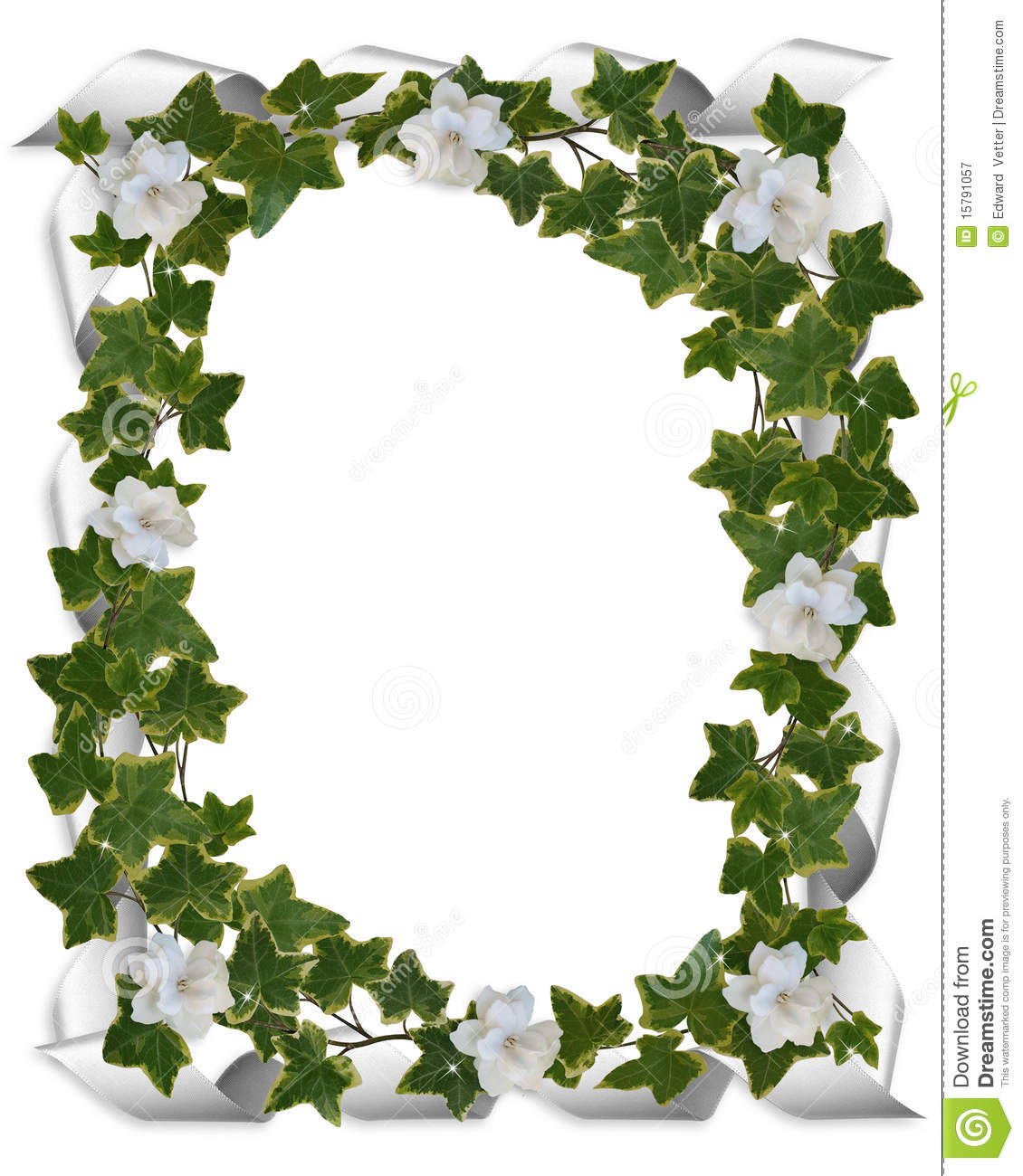 Ivy Border With Gardenias Royalty Free Stock Photography