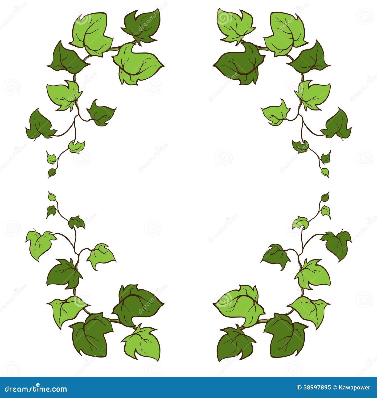 Ivy Vector Hand Drawn Frame. Stock Illustration ...