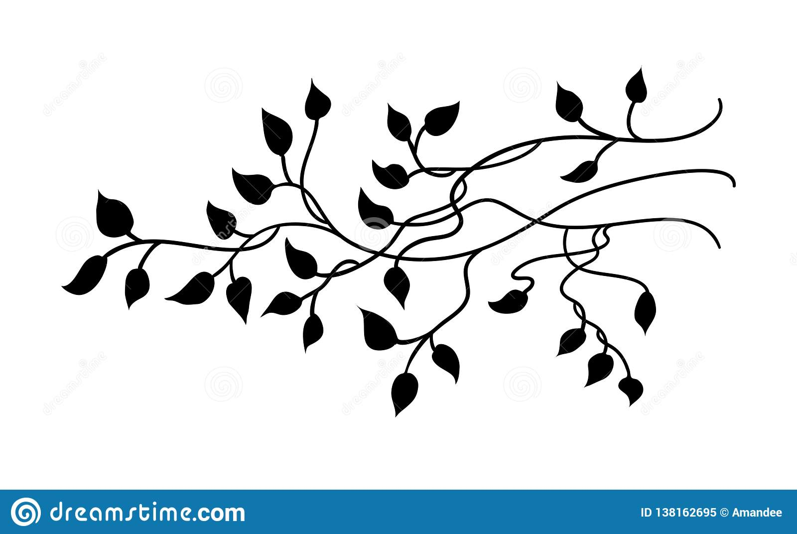 Ivy And Vines Vector With Pretty Leaves In Nature Border Design Or