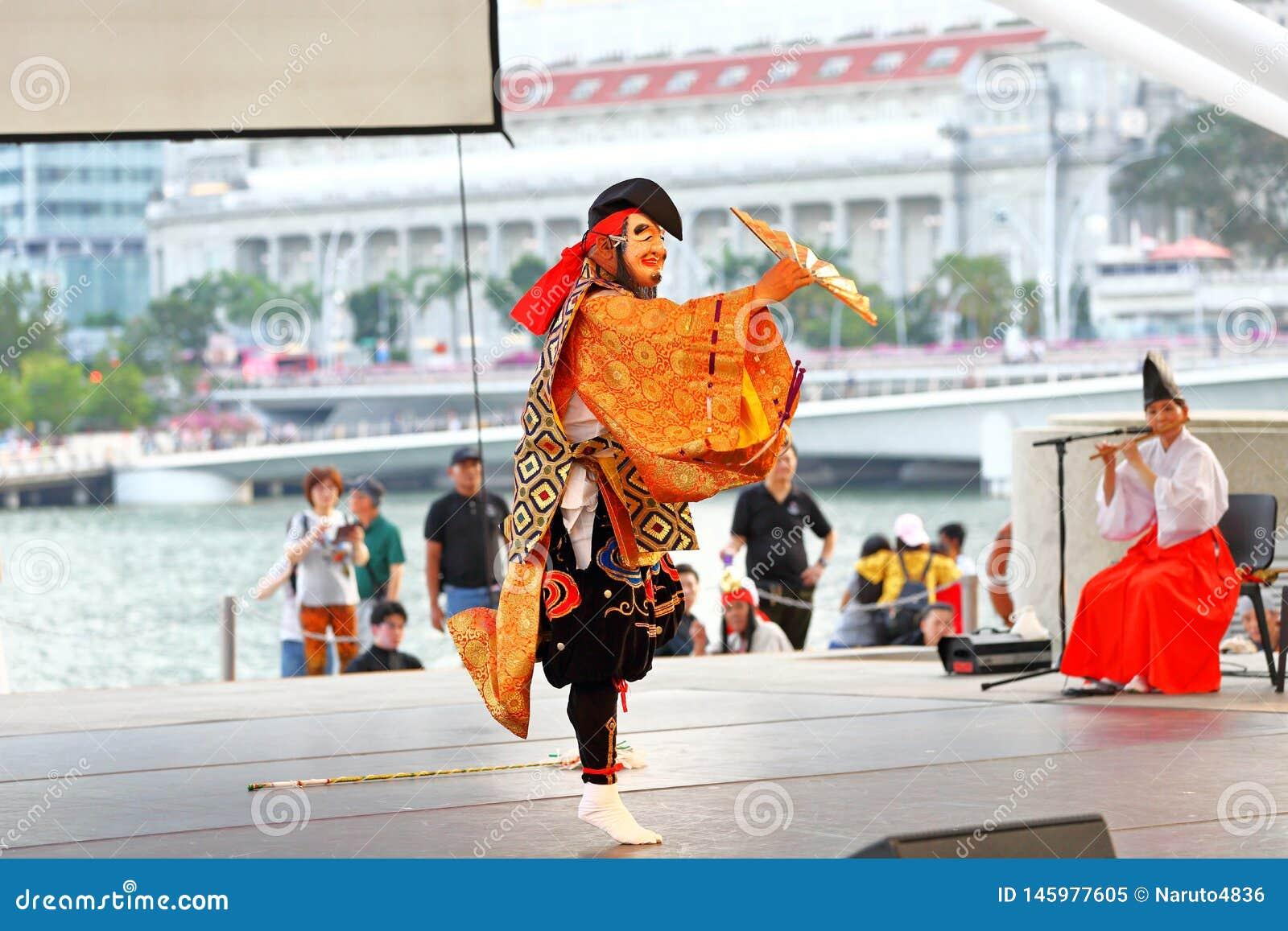 Iwami Kagura: Mord der Acht-köpfigen Schlangen-Leistung Theater am im Freien Singapur der Esplanade
