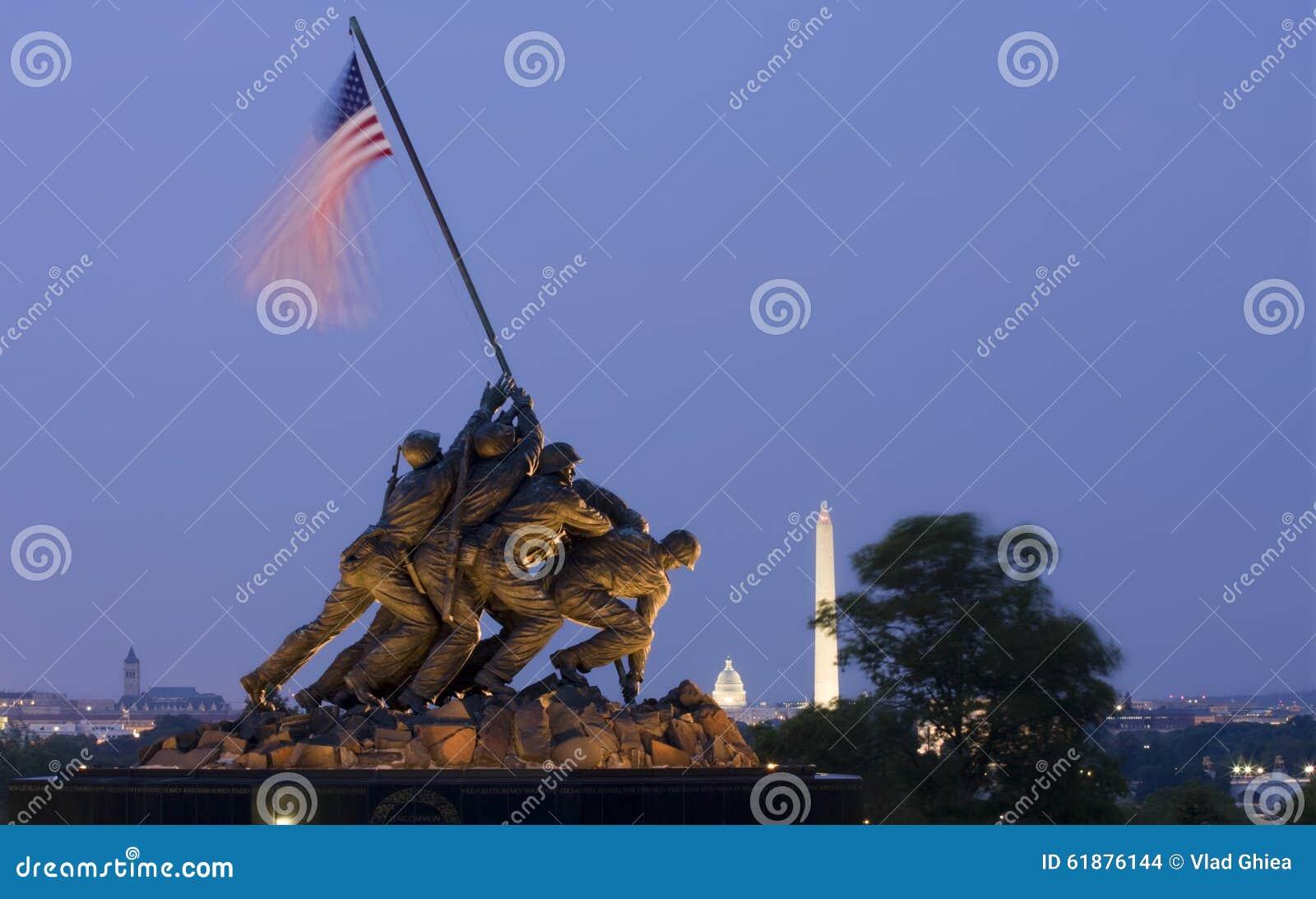 Iwo Jima Memorial no Washington DC, EUA