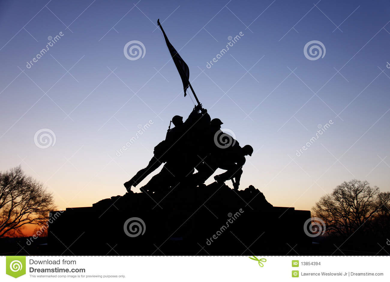 Iwo Jima Memorial Before Sunrise