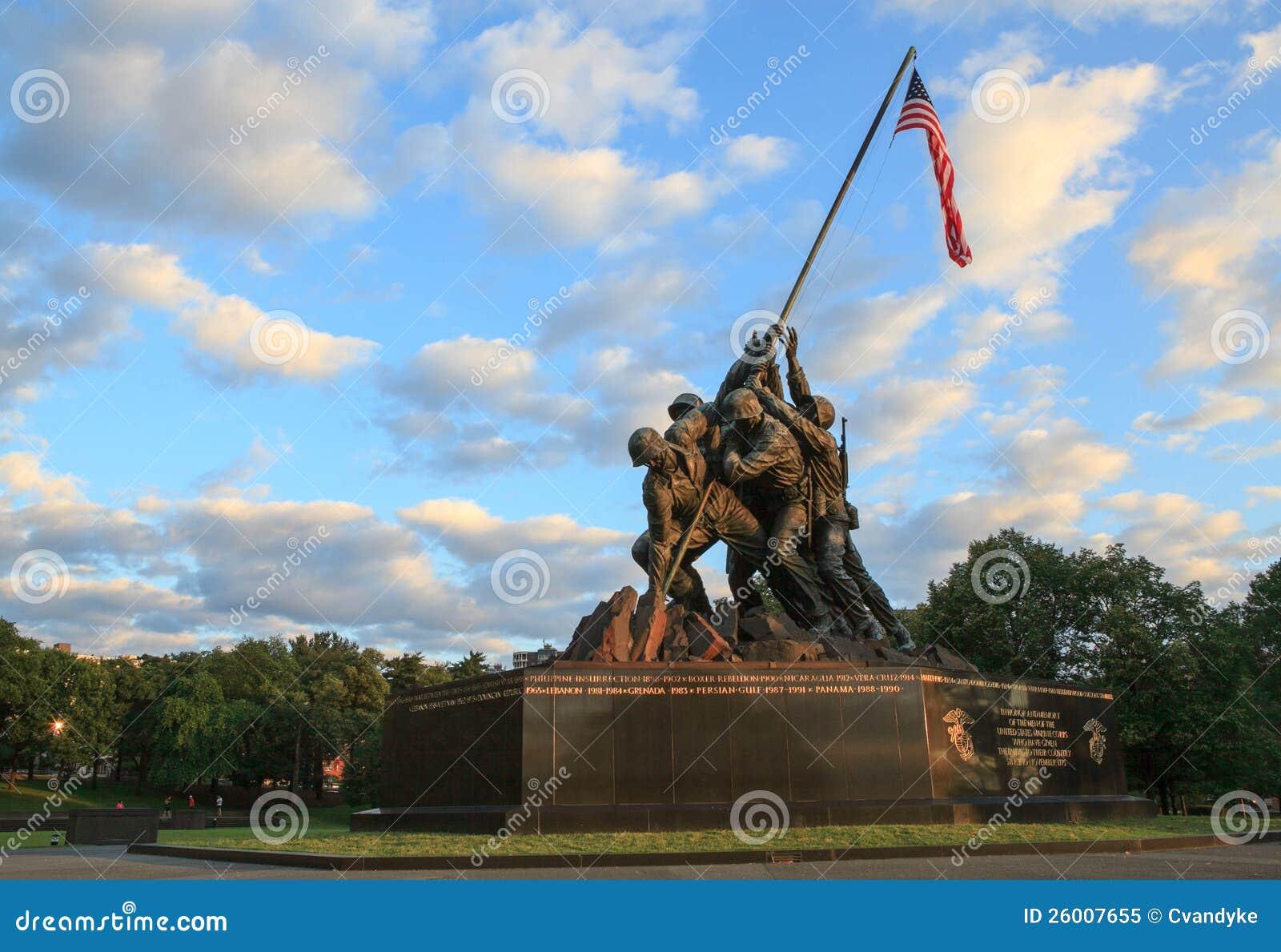 Iwo Jima Morski Pamiątkowy Arlington VA