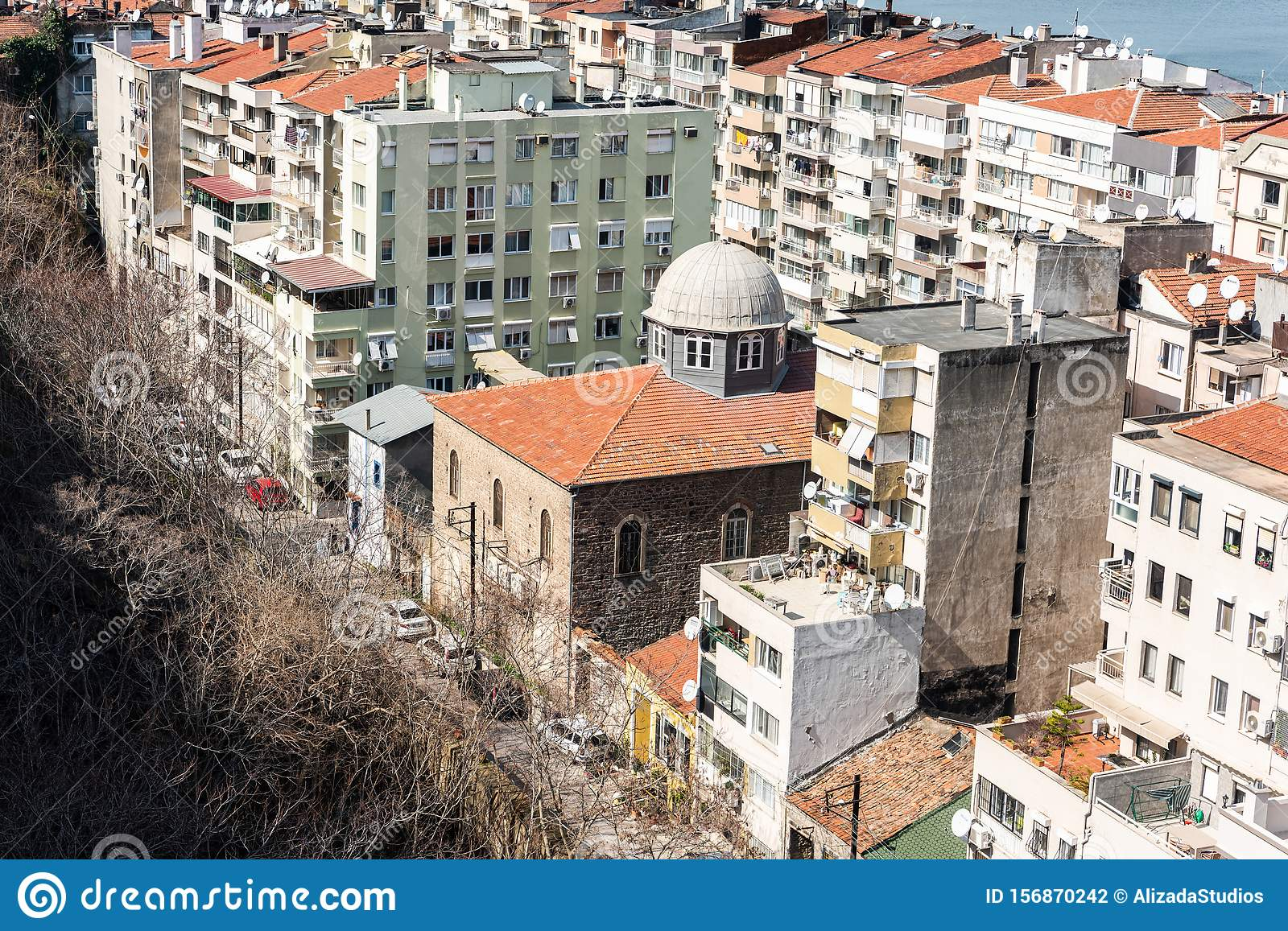 View Over Bet Israel Synagogue In Izmir Editorial Photography Image Of Milah Judaism 156870242