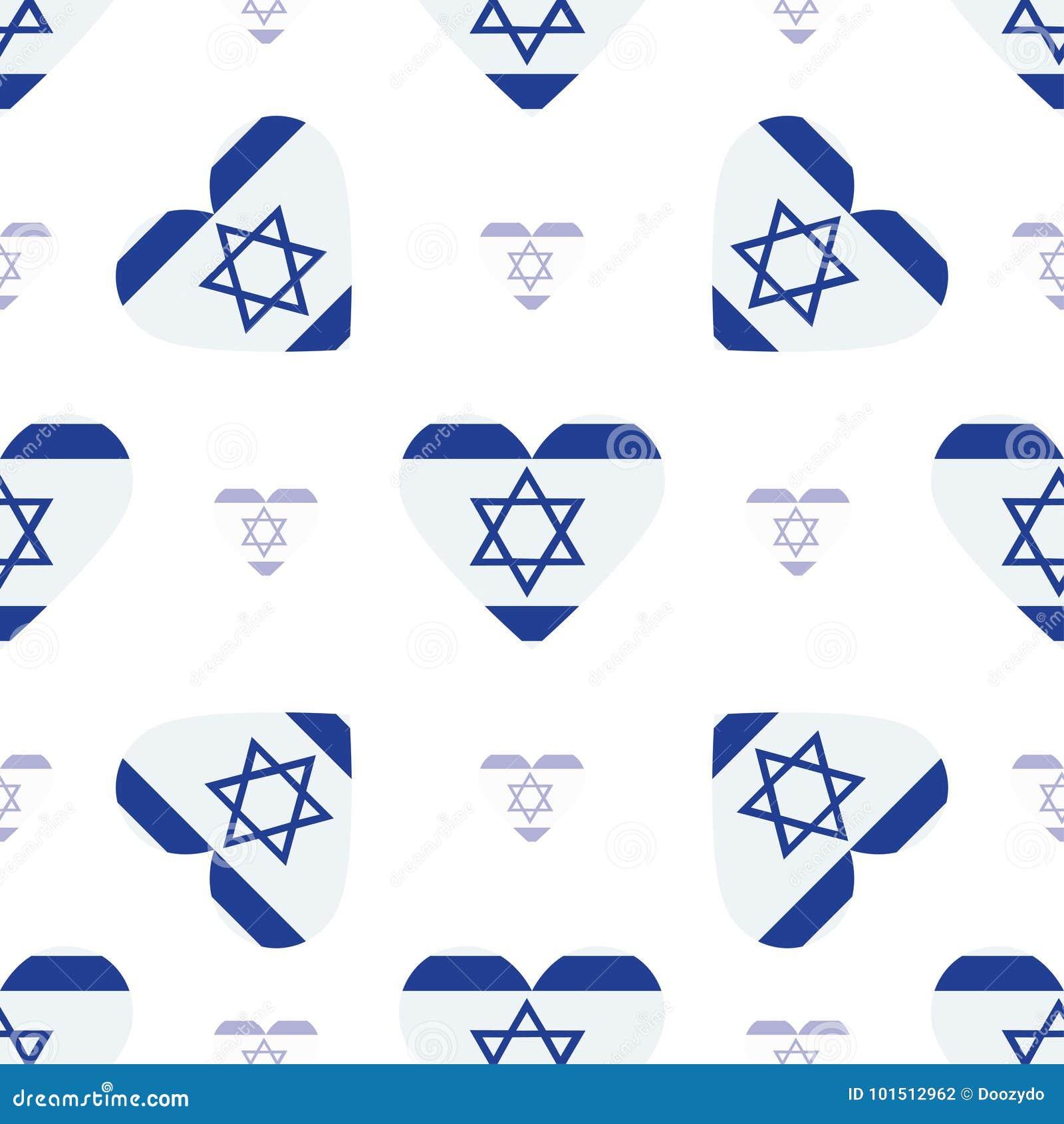 Izrael chorągwiany patriotyczny bezszwowy wzór