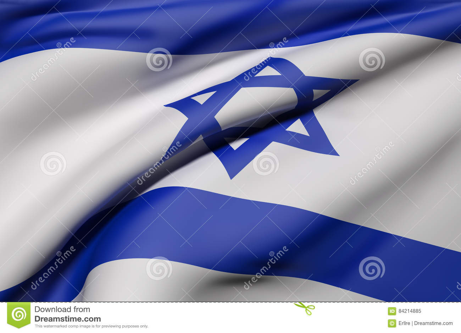 Izrael flaga falowanie