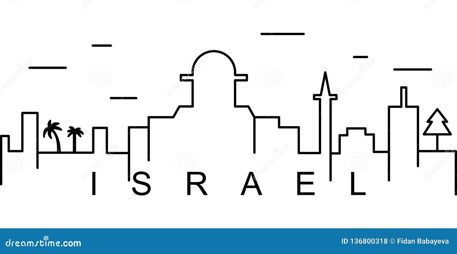 Izrael konturu ikona Może używać dla sieci, logo, mobilny app, UI, UX