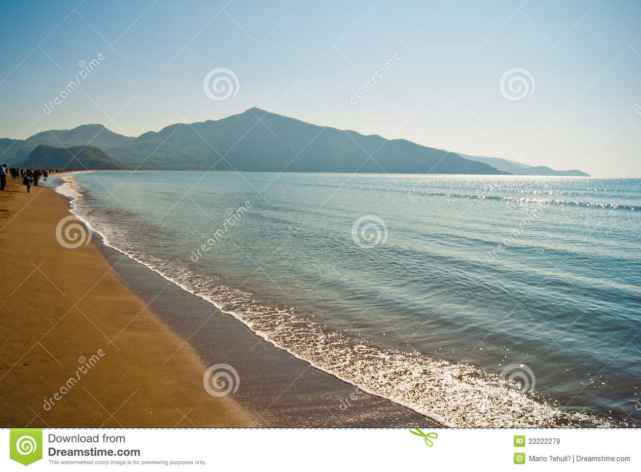 Iztuzu Beach Royalty Free Stock Images - Image: 22222279