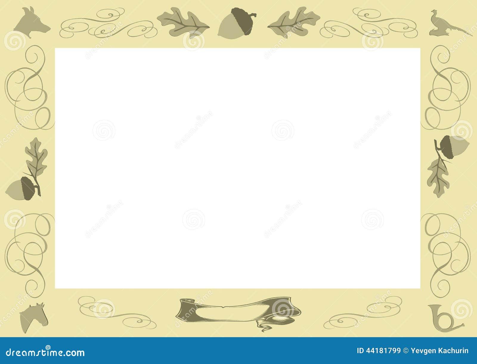 Jäger-Rahmen vektor abbildung. Illustration von hintergrund - 44181799