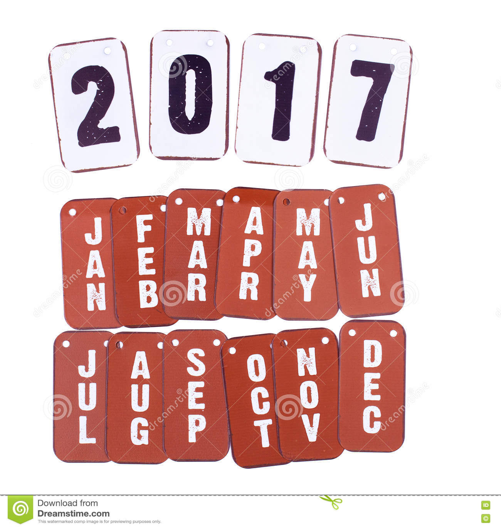 2017-jähriger und Monatskalender lokalisiert