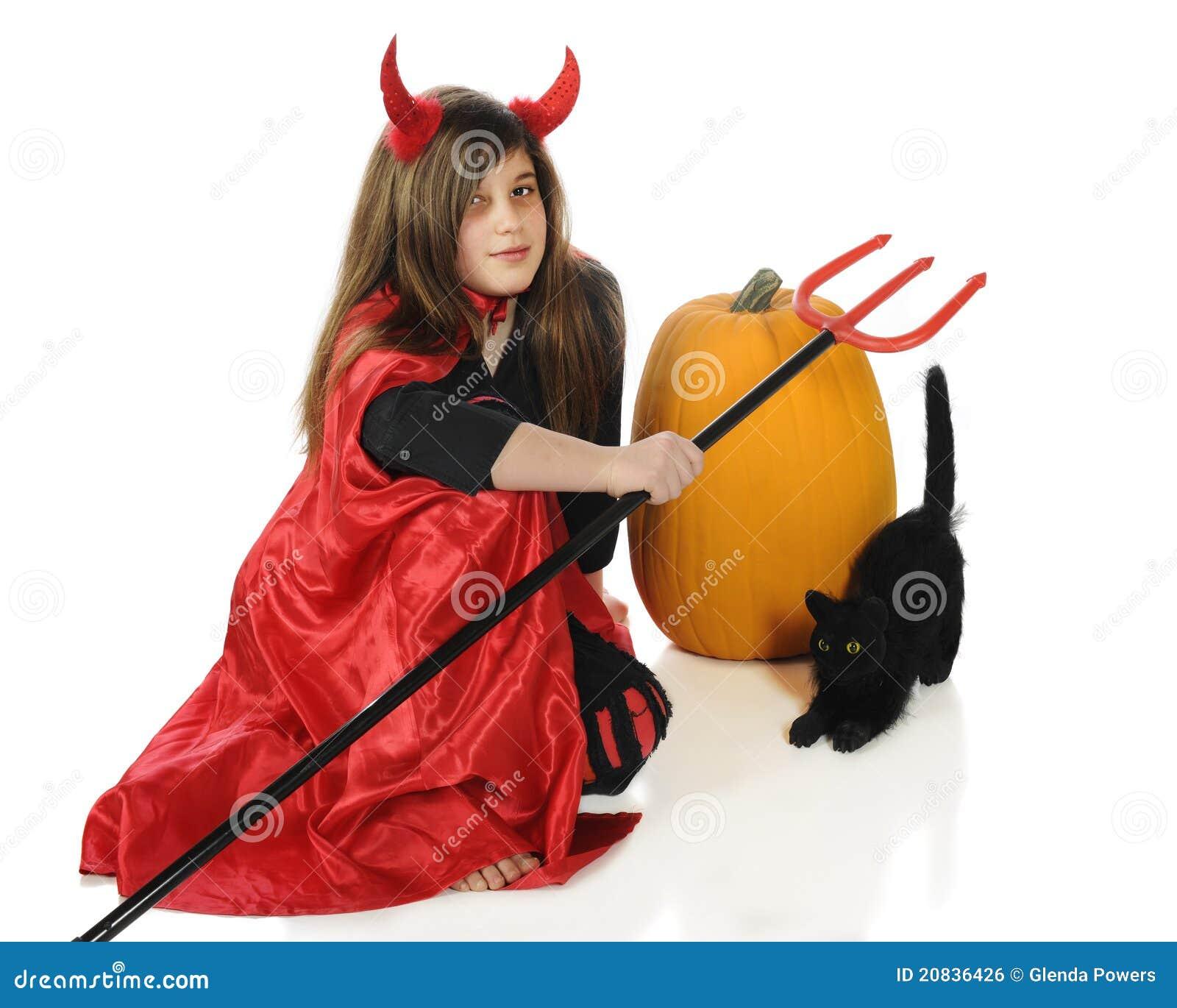 Jäkel halloween arkivfoto. Bild av horns e727a684b26bb