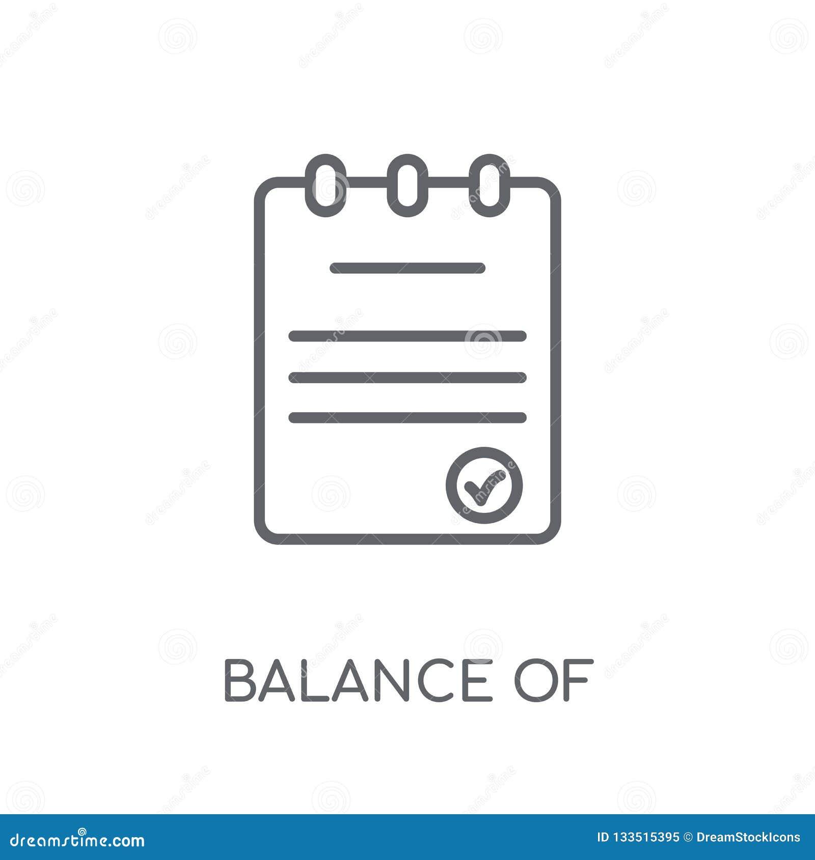 Jämvikt av den linjära symbolen för betalningar Modern översiktsjämvikt av paymen