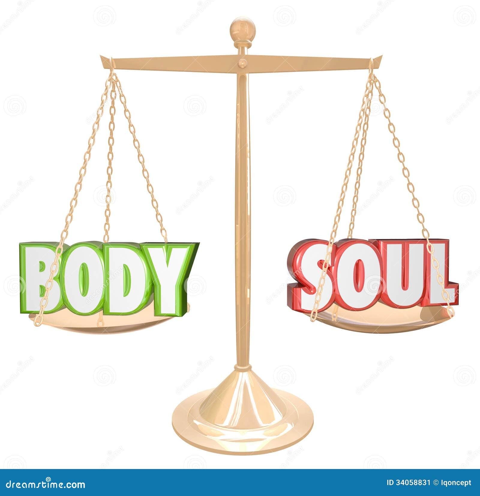 Jämvikt för kropp- och andaordskala som väger sammanlagd hälsa