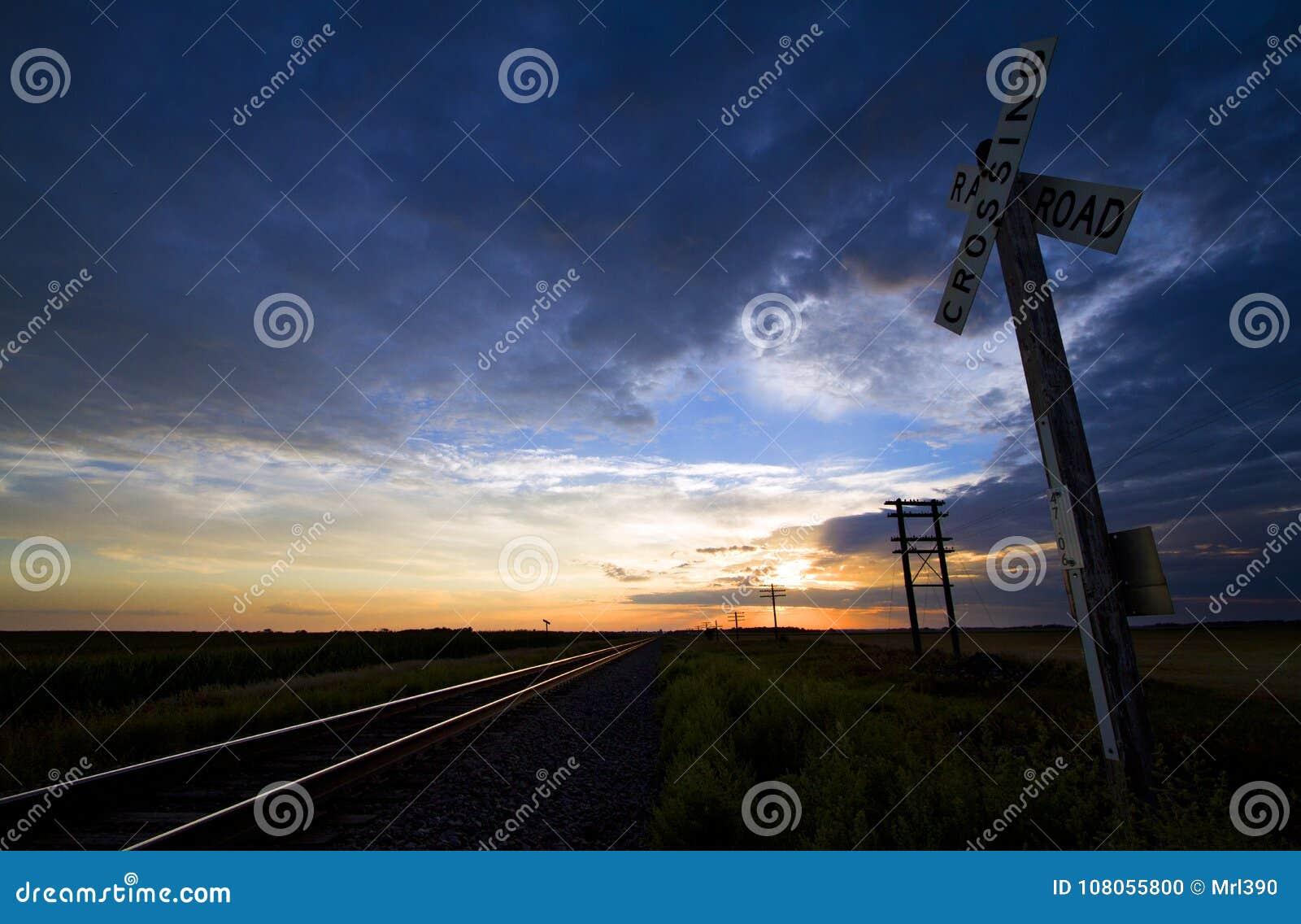 Järnvägkorsning i North Dakota