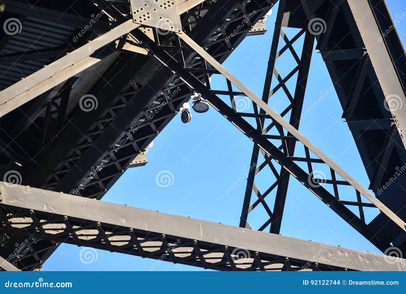 Järnvägsbro i den Edmonton staden