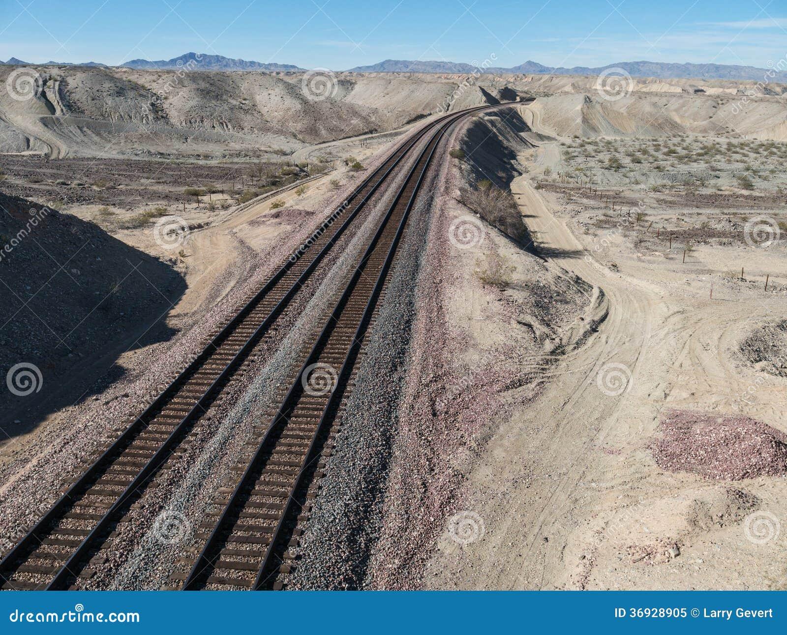 Järnvägspår i nordliga Arizona