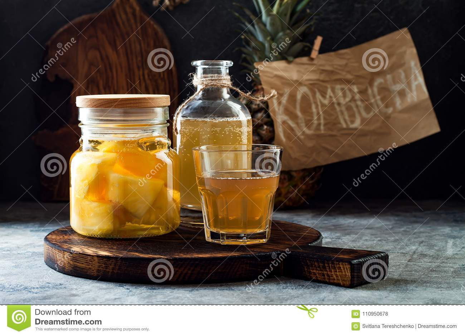 Jäst mexikansk ananas Tepache Hemlagat rått kombuchate med ananas Sund naturlig probiotic smaksatt drink