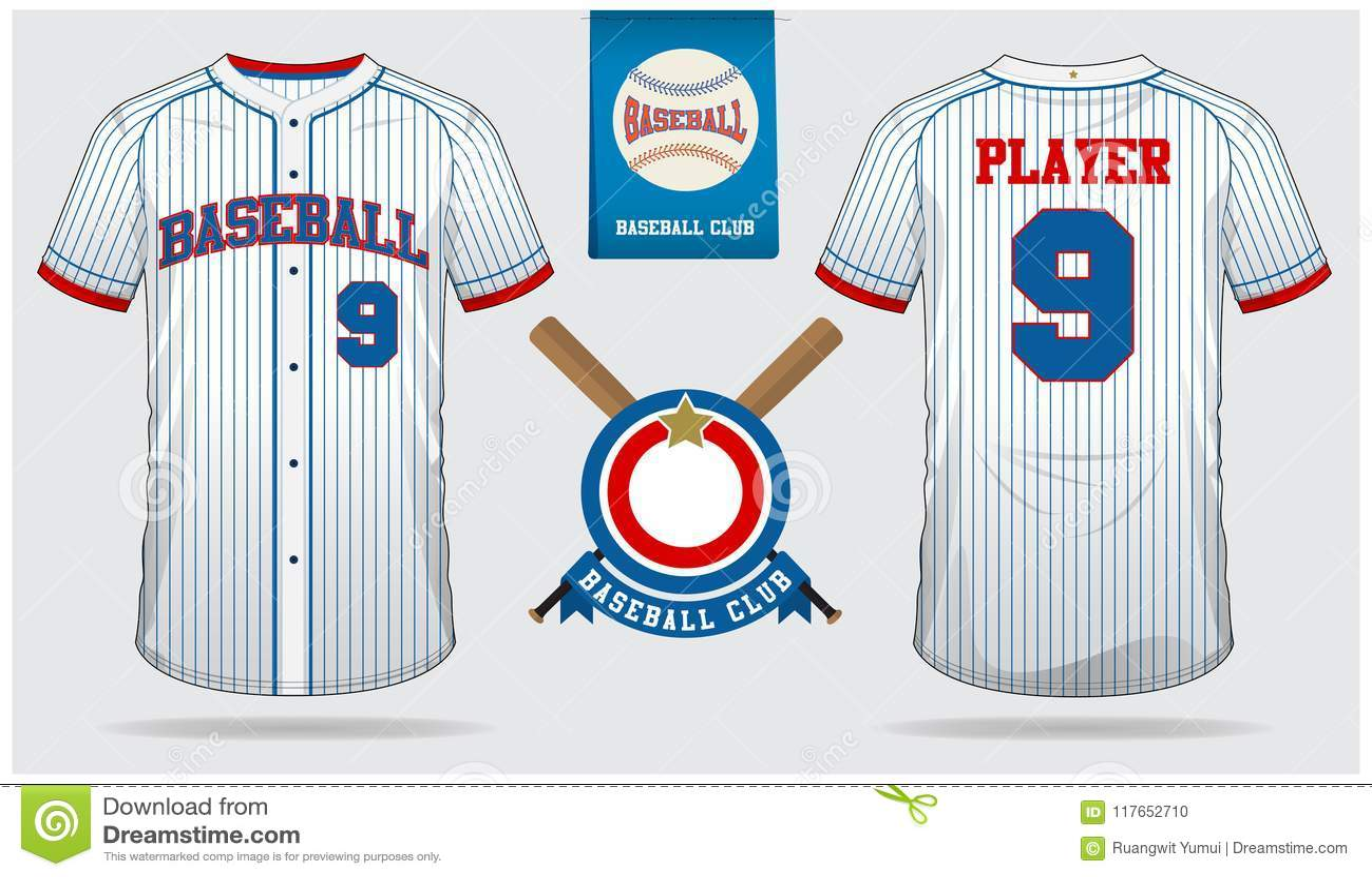 Jérsei de basebol, uniforme do esporte, esporte do t-shirt do raglan, curto, molde da peúga Zombaria do t-shirt do basebol acima
