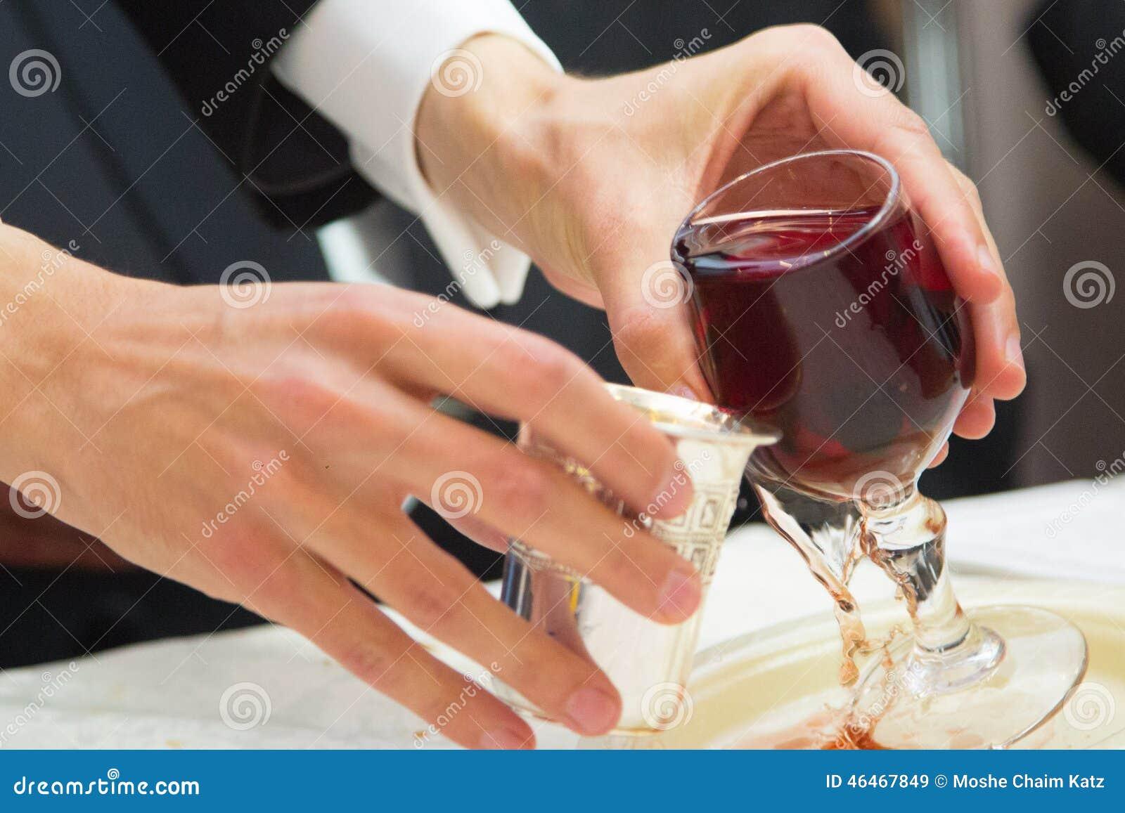 Judische Hochzeit 2 Silberne Glaser Stockbild Bild Von Flasche D0