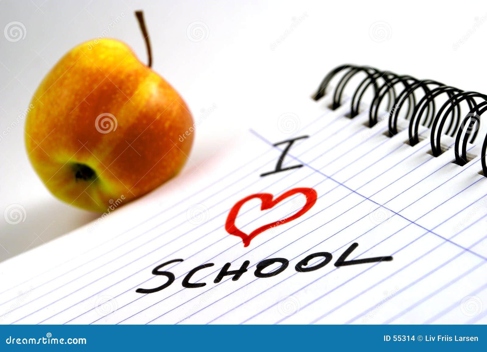 Download J'aime l'école photo stock. Image du leçon, enfants, papier - 55314