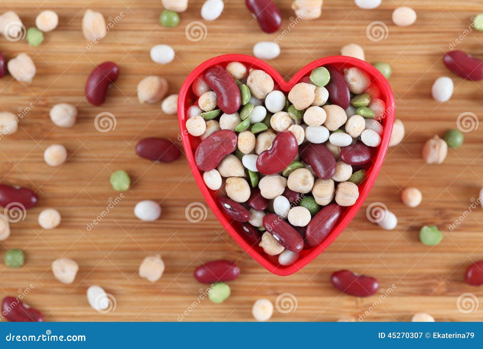 J aime les haricots mélangés de légumineuse