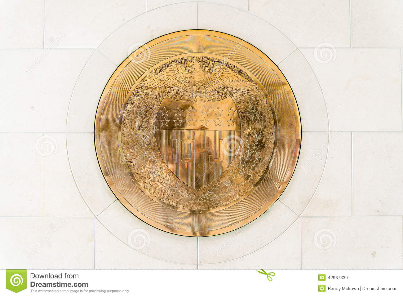10 J Gold Seal At United States Federal Reserve Stock Image Image