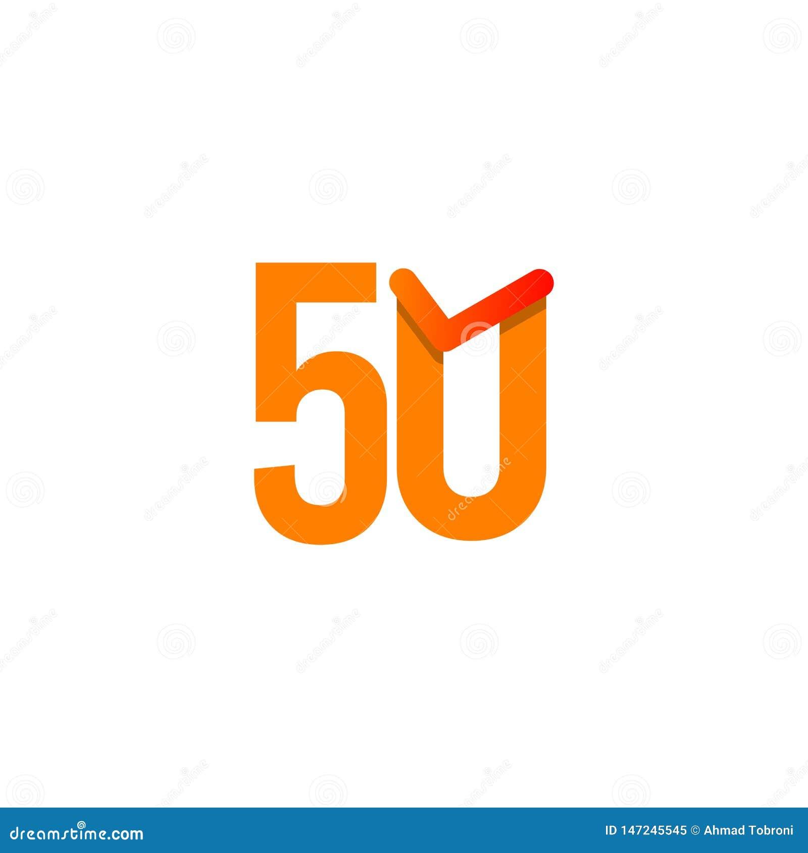 50-j?hrige Jahrestags-Feier-Vektor-Schablonen-Entwurfs-Illustration