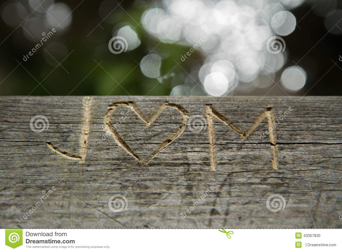 J And M Letter Love Symbol Engraving Stock Photo Image Of