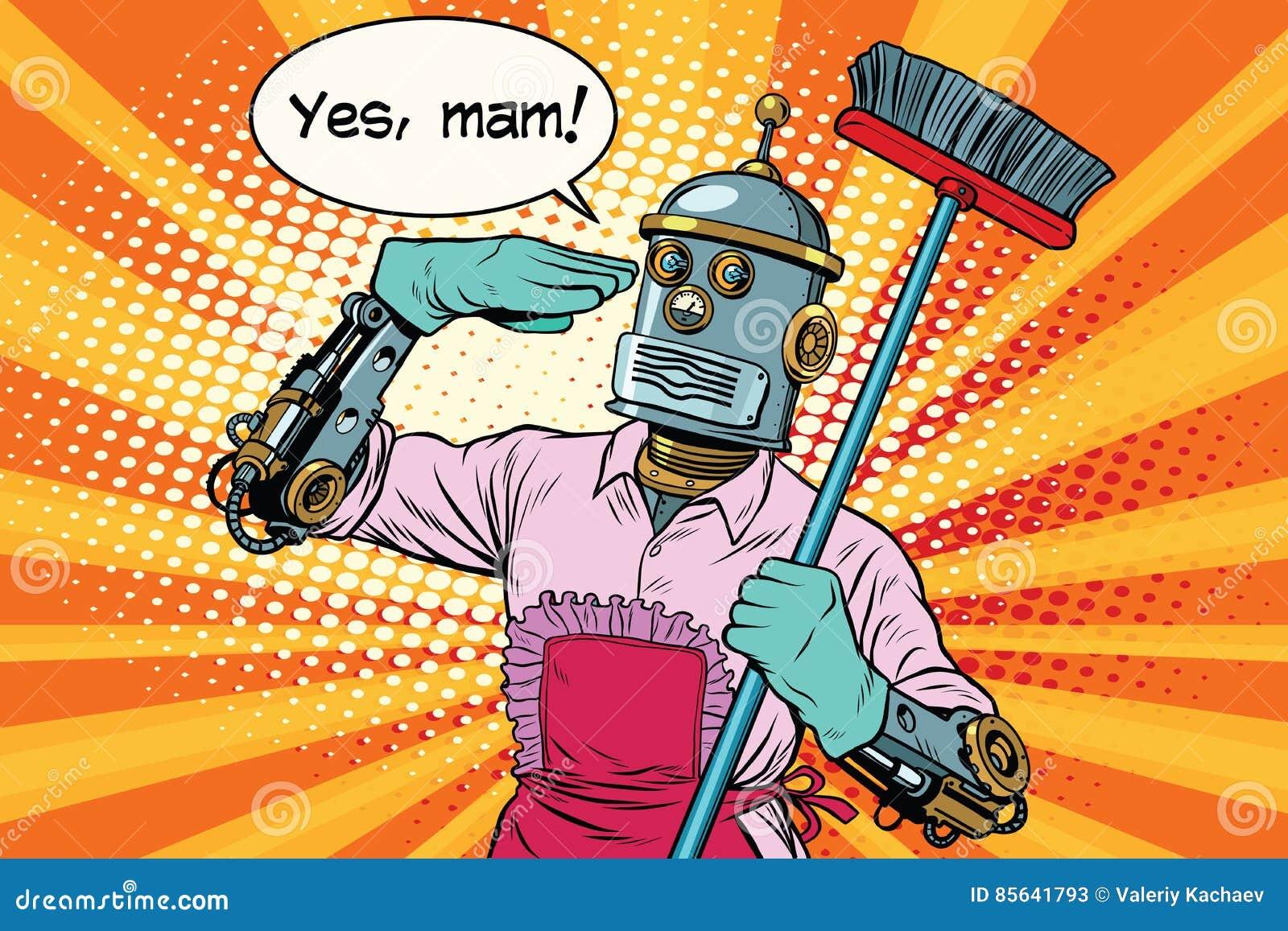 Ja mam Robot en het schoonmaken van het huis