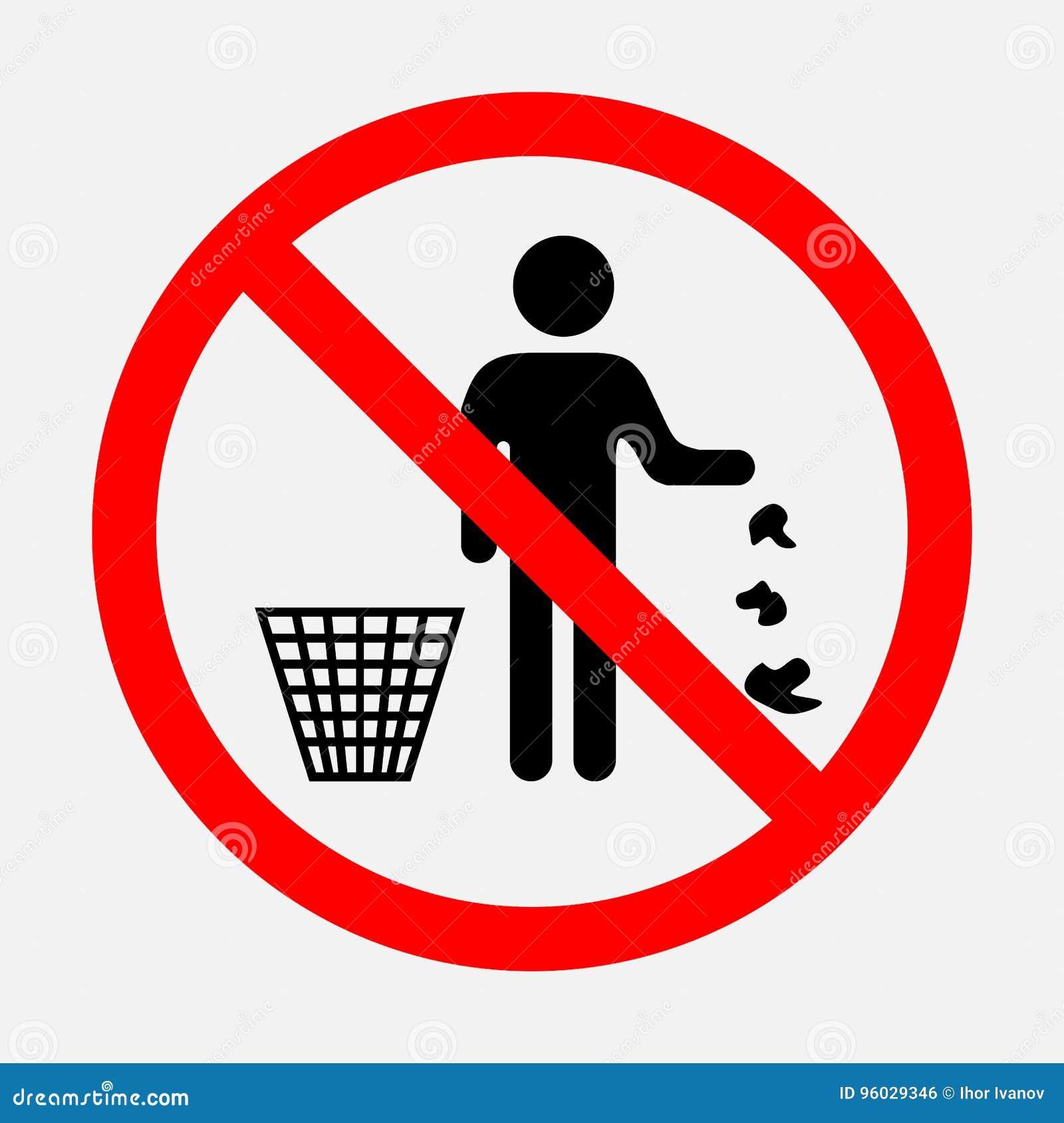 Ja zakazuje rzutu śmieci