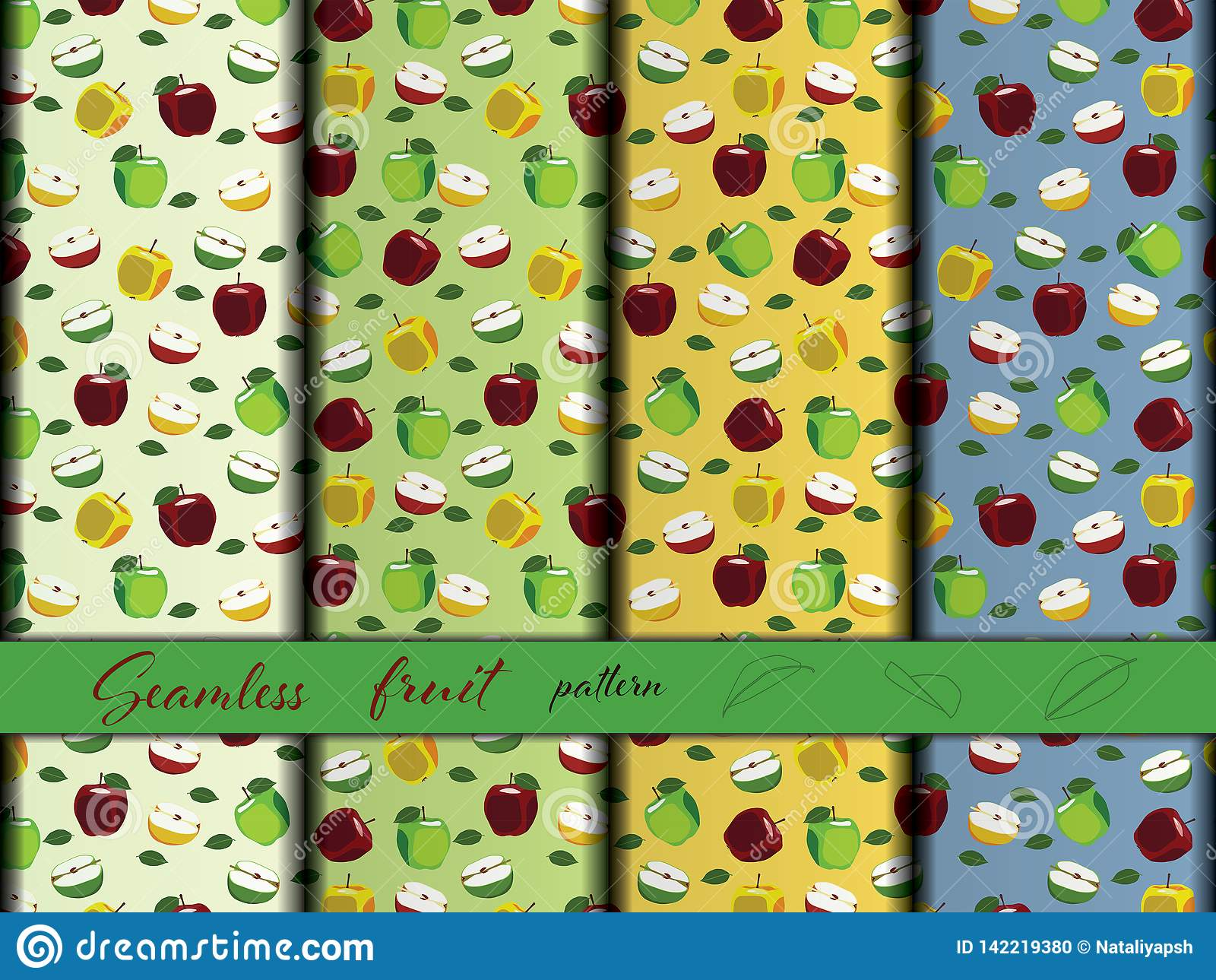 Jabłczany owocowy bezszwowy wzór