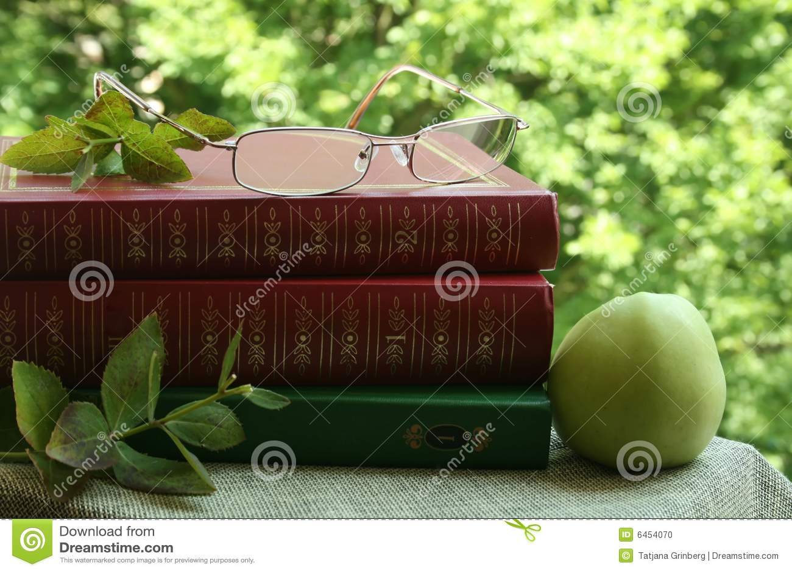 Jabłczana książek okulary green