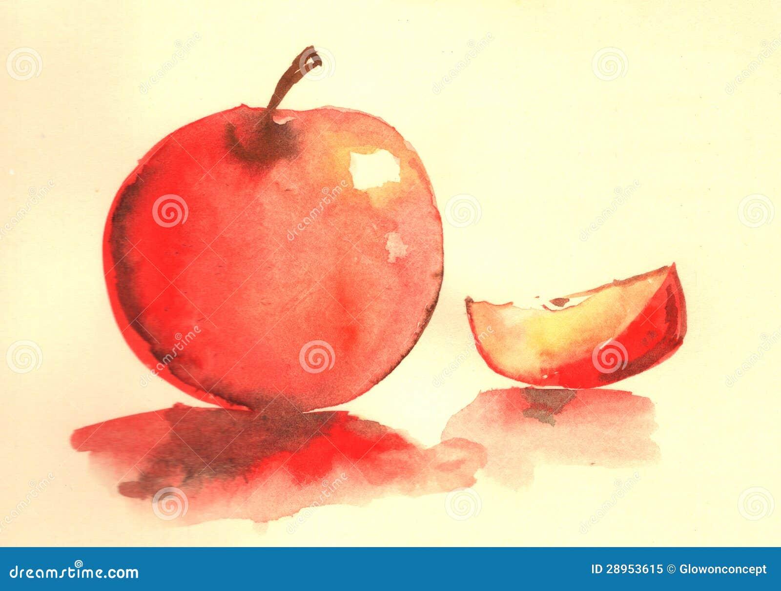 Jabłczana wodnego koloru ilustracja