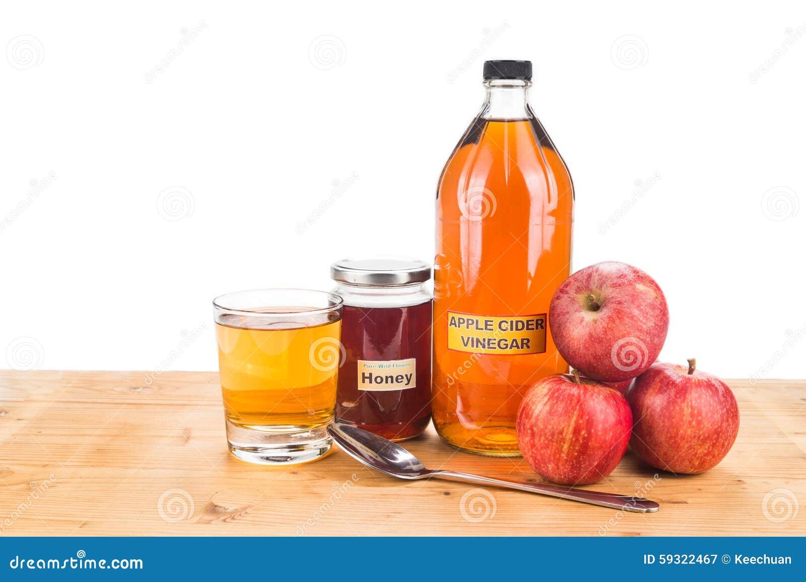 Jabłczanego cydru ocet z miodem, naturalnymi remediami i lekarstwami dla c,