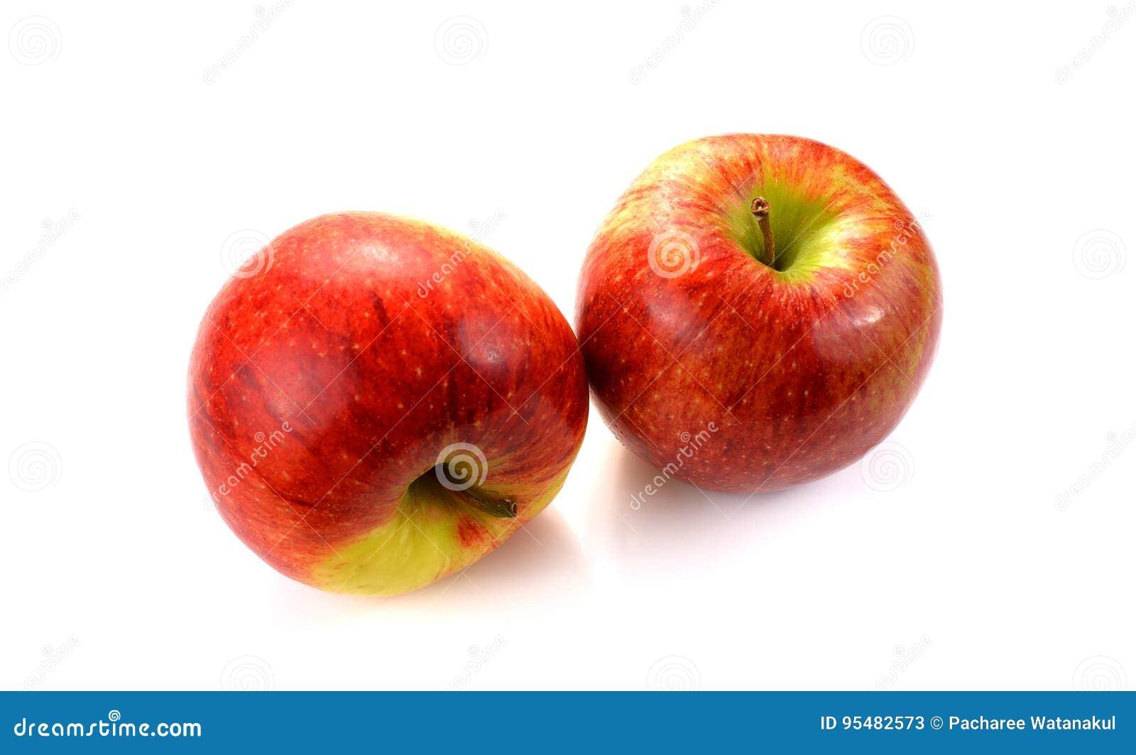 Jabłczanego tła świeży odosobniony czerwony biel