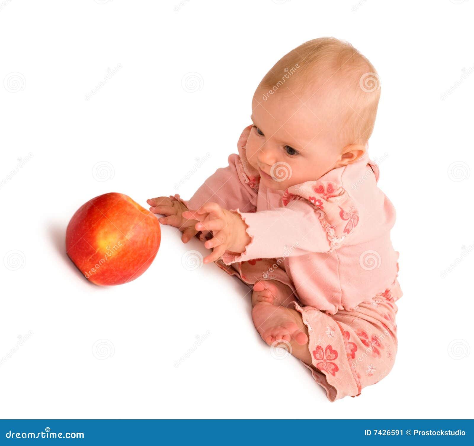 Jabłczany dziecko dostaje chcieć
