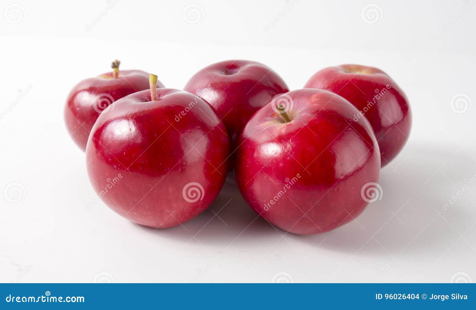 Jabłek tła czerwony biel wierzchołek