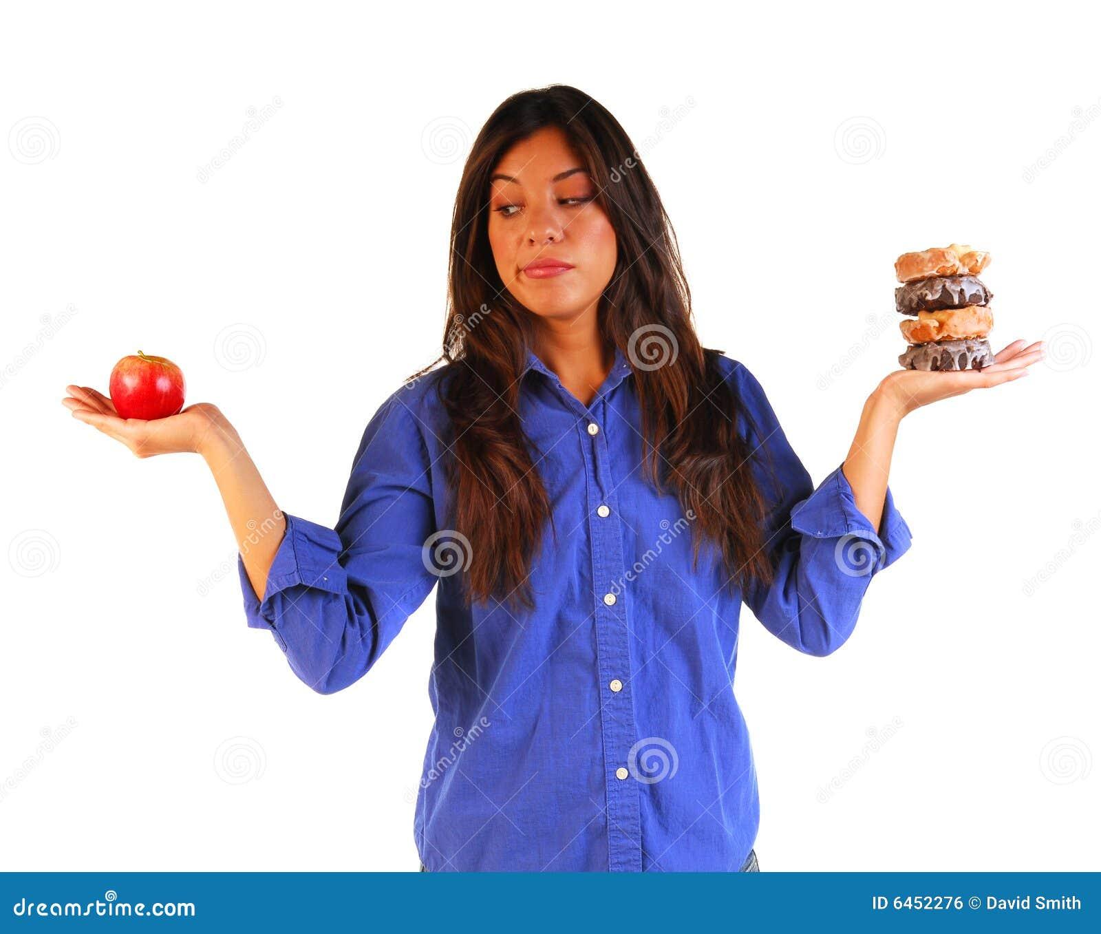 Jabłko decyduje pączków to młodych kobiet