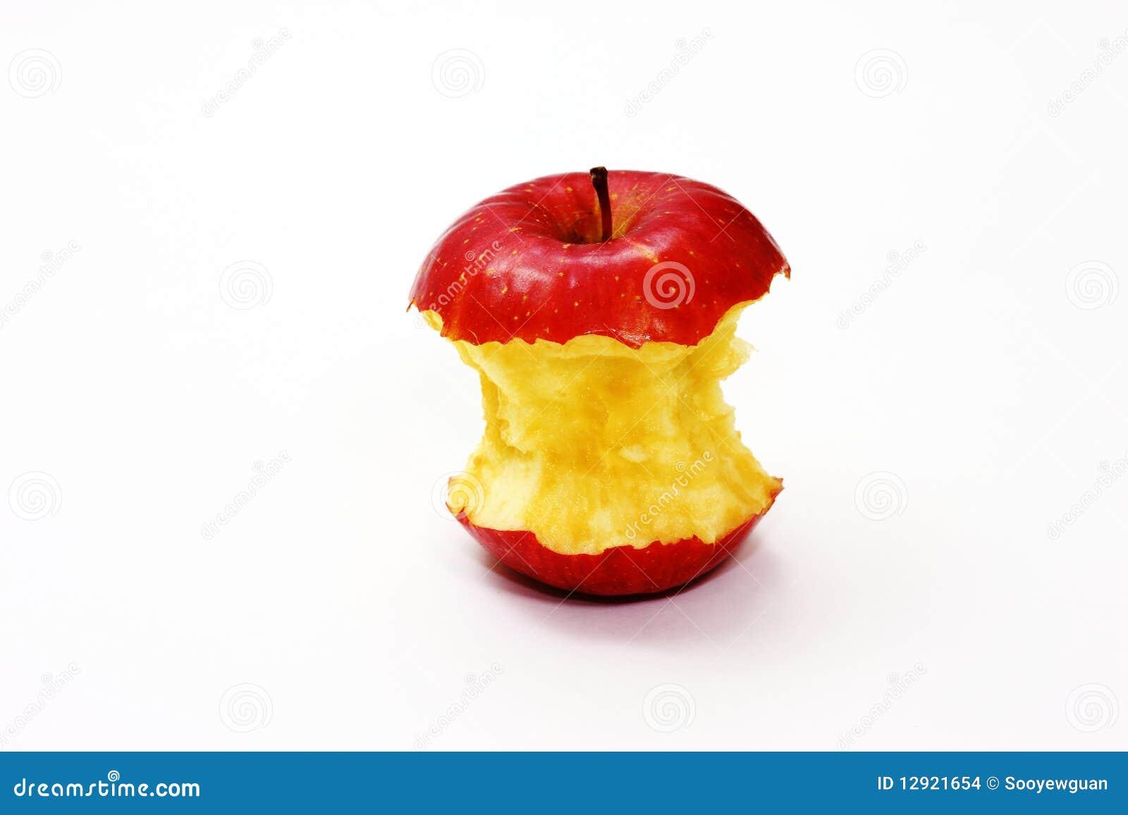 Jabłko gryźć czerwień