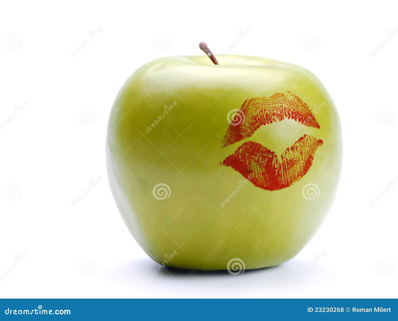Jabłko - pomadka zielony druk