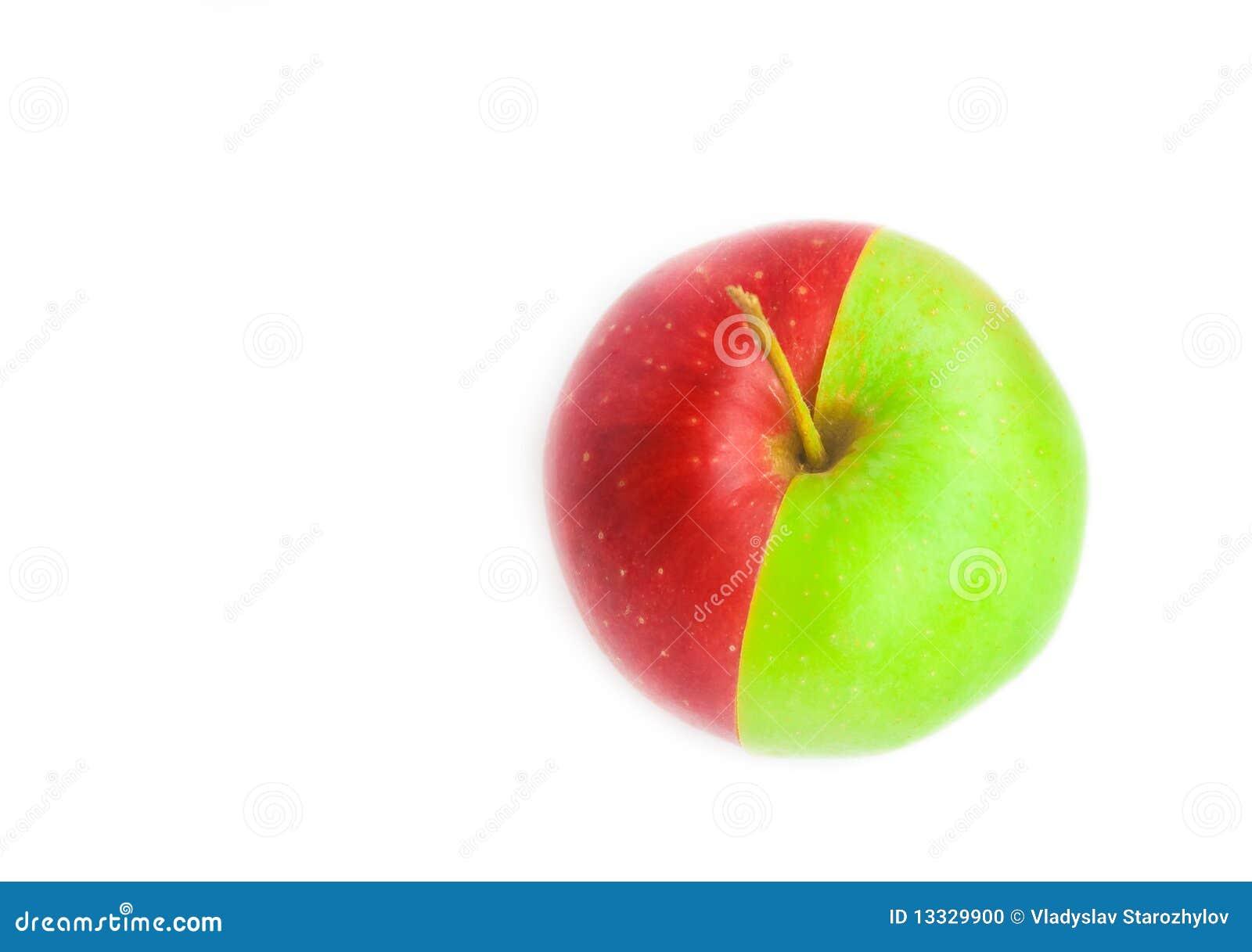 Jabłko - zielona czerwień